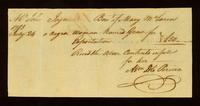 [Bill of sale for a slave named Grace]