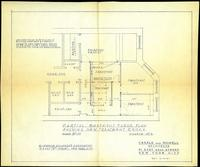 Blueprint by Casale and Nowell, architects, dated June 16, 1961: 'Partial floor plan, showing new treatment rooms, scheme no. 2.'