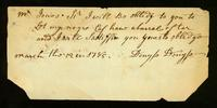 [Receipt for goods exchanged with Mr. Jones, ship candelar at New York]