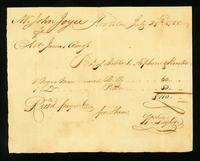 [Bill of sale for two slaves named Billy and Peter]