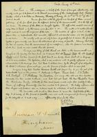 [Letter from John A. Collins and Henry W. Williams to Increase S. Smith]