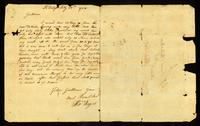 [Letter from Thos. Rogers to Messrs. Samuel & William Vernon]