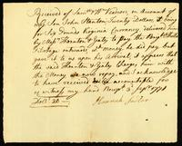 [Receipt of wages for pilotage by John Stanton]