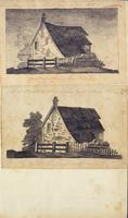 [Unnumbered], [Two drawings of farm houses]