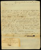 [Letter to the Governor of Maryland, Horatio Sharpe]