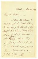 [Letter from Edmund Quincy to J. Otis Williams]