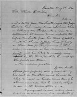 [Letter from L. Spooner to Col. Charles D. Miller]