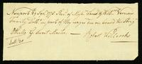 [Receipt for wages paid to Robert Willock by Saml. & Willm. Vernon]