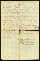 Mr. Francis Mairez's Receipt for Sundry Notes left in his hands by Captain Knowles Mastr. of our Brigt. Royal Charlotte 1775
