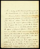 Appointment of Stanton Dec. 1838 as Genl. Agent of Mass. Society