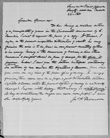 [Letter from Jno. A. Thomson to Lysander Spooner]