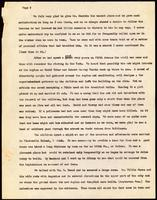 Carbon typescript copy of a letter from former first directress Anna F. Taber to her 'dear Cousin,' dated May 7, 1910, recalling the circumstancess of the founding of the Asylum; the Draft Riots; and other people who were involved in the Association and t