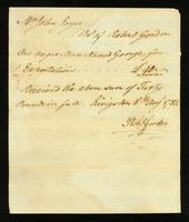 [Bill of sale for a slave named George]