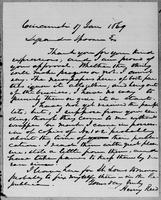 [Letter from Henry Reed to Lysander Spooner]
