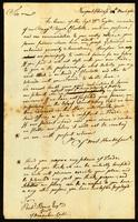 [Unsigned manuscript copy of letter to Richd. Brew, Esq.]