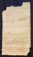 [Unidentified fragment of account book, 1767]