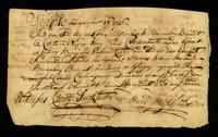 [Bill of sale for a slave named Portsmouth]
