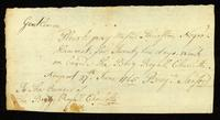 [Request for wages to be paid to Mr. Thurston for work done by his slave, Hammet, aboard the Brig Royal Charlotte]
