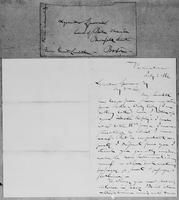 [Letter and envelope from Gerrit Smith to Lysander Spooner]