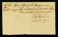 [Bill of sale for a slave named Gift]