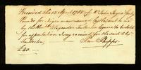 [Bill of sale for a slave named Castle]