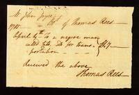 [Bill of sale for a slave named Cato]