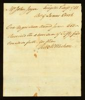 [Bill of sale for a slave named James]