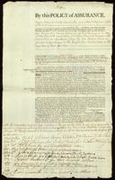 Policy of Insurance on Sloop Carolina & Cago Gilbert Fuller Mastr. For Africa & Havanna on accot. Of Messrs. Edward Dickens &c. of Providence