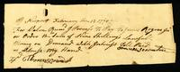 [Receipt for money received by James Rogers, Junr. from Samuel Scranton]