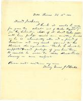 [Letter from J. S. Hall to Francis Jackson]