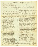 [List of delegates from the Massachusetts Anti-Slavery Society attending the 4th anniversary of the American Anti-Slavery Soceity]