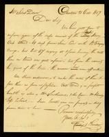 [Letter from Phillips & Gardner to Mr. Silas Dean]