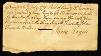 [Receipt for wages paid to Mary Rogers]
