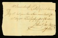 [Receipt for the sale of a Negro man slave named Qua]