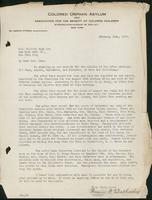 Vol. 38, typescript letter, dated February 14, 1928, from Harriet Wetherbee to Mars. Elliott Hugh Lee regarding the minutes of the after-care committee meetings for June, August, September, and November of 1927.