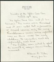 Vol. 38, minutes of the March 14, 1930 after-care committee meeting.