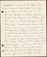 Vol. 38, minutes of a special January 16, 1931 after-care and executive committee meeting.