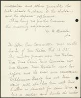 Vol. 38, minutes of a special January 16, 1931 after-care and executive committee meeting [continued]; minutes of the February 13, 1931 after-care committee meeting.