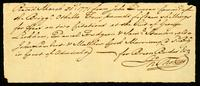 Rec'd March 21, 1771 from John Duncan Commr. of the Brigga. Othello