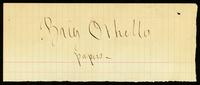 Brig Othello papers