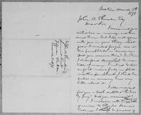 [Manuscript copy of a letter from Lysander Spooner to John A. Thomson]