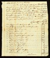 [Inventory of the Estate of Thomas Jenkins]