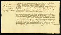 [Bill of lading for the Brig Othello from the Rappahannock River, to Newport, Rhode Island]