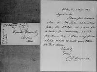 [Letter and envelope from C.B. Sedgwick to Lysander Spooner]