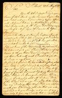 [Letter from Wal. Pringle to Messrs. Samuel & William Vernon]