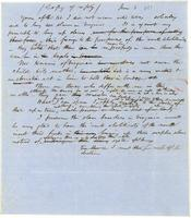 [Manuscript copy of reply from Francis Jackson to Arthur Homer]