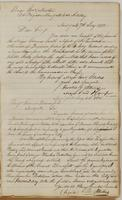 Ebenezer Stevens letters to Brigadier General Morton, dated New York, July 7, 1812, and to Brigadier General Blooomfield, July 8, 1812.