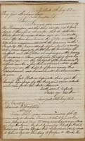 Unsigned letter to Brigadier General Abraham Rose, dated New York, July 15, 1813, and Daniel D. Tompkins, July 15, 1813.