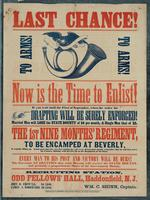 Last chance! To Arms! To Arms! Now is the time to enlist! If you wait until the first of September, when the order for drafting will surely be enforced! Married men will lose the state bounty of $6 per month, & single men that of $2.