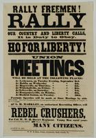 Rally Freemen! Rally our country and liberty calls, it is duty to obey. Ho for liberty!